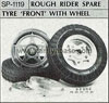 Tamiya 50119 ROUGH RIDER SPARE TYRE FRONT WITH WHEEL