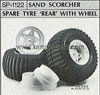 Tamiya 50122 SAND SCORCHER SPARE TYRE REAR WITH WHEEL