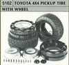 Tamiya 50162 TOYOTA PICK UP TYRE WITH WHEEL