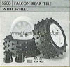 Tamiya 50288 FALCON REAR TYRE WITH WHEEL