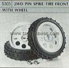 Tamiya 50303 2WD PIN SPIKE TYRE FRONT WITH WHEEL