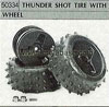 Tamiya 50334 THUNDER SHOT TYRE WITH WHEEL