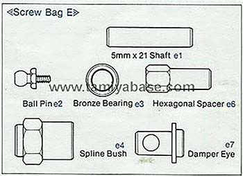 Tamiya SCREW BAG E 19465097