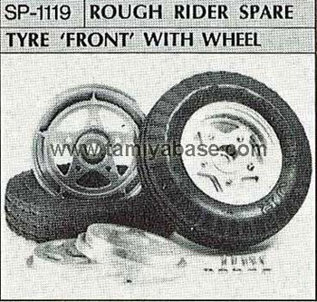Tamiya ROUGH RIDER SPARE TYRE FRONT WITH WHEEL 50119