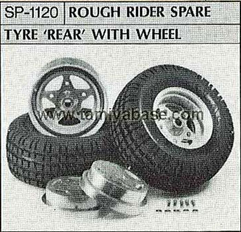 Tamiya ROUGH RIDER SPARE TYRE REAR WITH WHEEL 50120