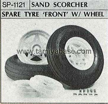 Tamiya SAND SCORCHER SPARE TYRE FRONT WITH WHEEL 50121