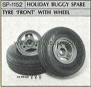 Tamiya HOLIDAY BUGGY SPARE TYRE FRONT WITH WHEEL 50152