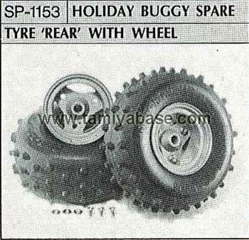 Tamiya HOLIDAY BUGGY SPARE TYRE REAR WITH WHEEL 50153