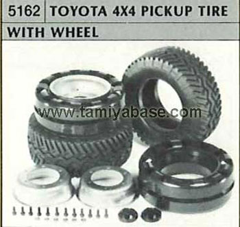 Tamiya TOYOTA PICK UP TYRE WITH WHEEL 50162