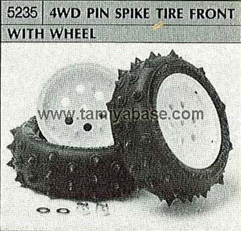 Tamiya 4WD PIN SPIKE TIRE FRONT WITH WHEEL 50235