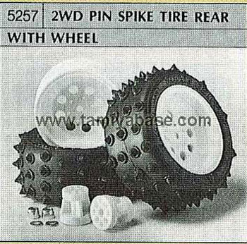 Tamiya 2WD PIN SPIKE TIRE REAR WITH WHEEL 50257