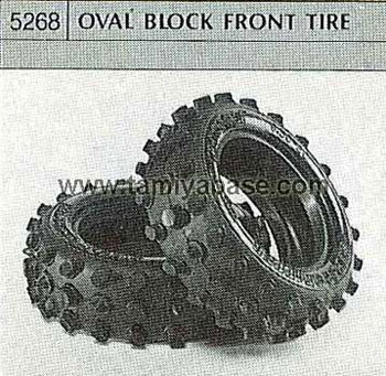 Tamiya OVAL BLOCK FRONT TYRE 50268