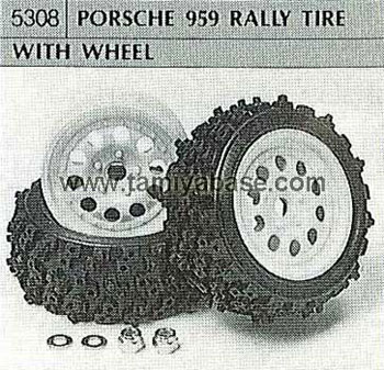 Tamiya PORSCHE 959 RALLY TYRE WITH WHEEL 50308