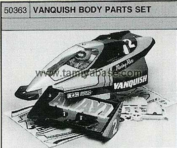 Tamiya VANQUISH BODY PARTS SET 50363