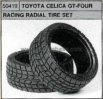 Tamiya TOYOTA CELICA GT-FOUR RACING RADIAL TYRE 50419