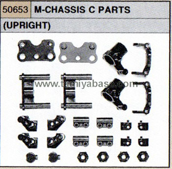 Tamiya M-CHASSIS C PARTS (UPRIGHT) 50653