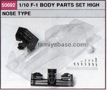 Tamiya 1/10-BP-F-1 HIGH NOSE TYPE, -BODY SET 50692