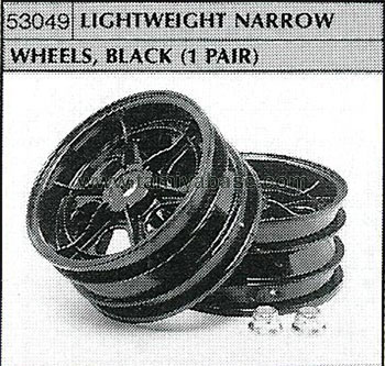 Tamiya LIGHTWEIGHT NARROW WHEELS, BLACK 53049