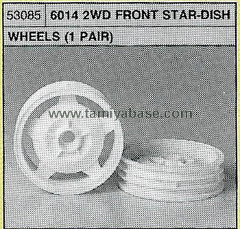 Tamiya 6014 2WD FRONT STAR-DISH WHEELS 53085