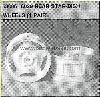 Tamiya 6029 REAR STAR-DISH WHEELS 53086