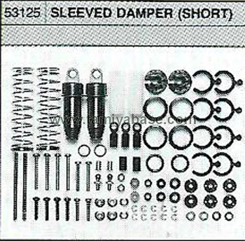 Tamiya SLEEVED DAMPER SHORT 53125