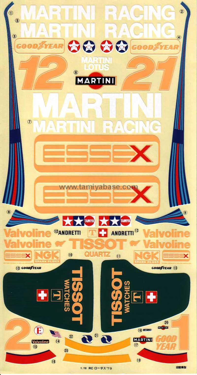 Tamiya 50109_1 Lotus 79 Martini Racing thumb 1